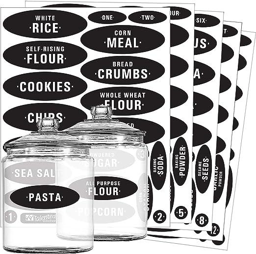 Bread Biscuits Tea Sugar Jar Vinyl Decals Stickers Kitchen Set of 5 Coffee