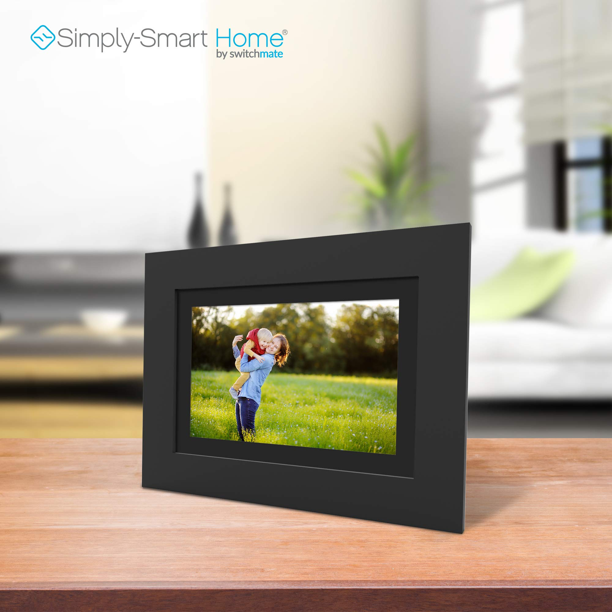 SimplySmart Home PhotoShare Social Network Frame 8'', Send Pics from Phone to Frame, Wi-Fi, Cloud, Digital Picture Frame, Holds Over 1,000 Photos, HD, 1080P, Black/White Mats by Switchmate (Image #5)