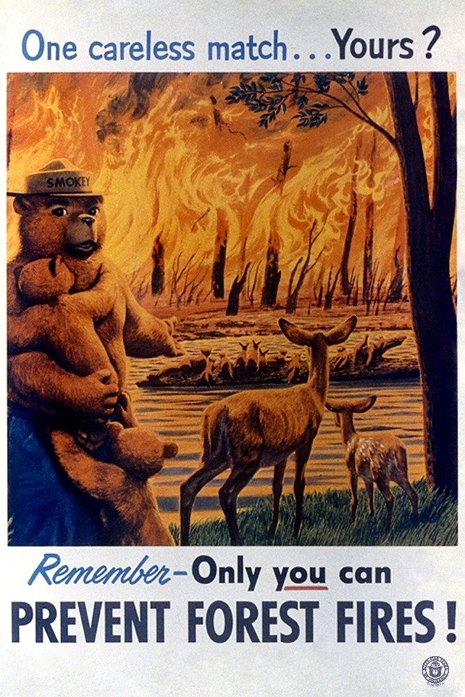 Smokey Bear – One Careless Match – ヴィンテージポスター 36 x 54 Giclee Print LANT-79799-36x54 36 x 54 Giclee Print  B06XZV56VX