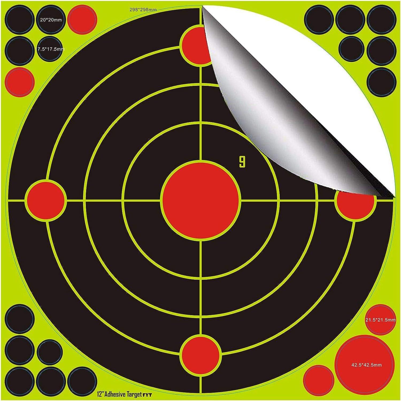 30,5cm 12 Zoll Splatter Targets//Sch/üsse platzen hellgelb//Einschusserkennung auf Langer Distanz