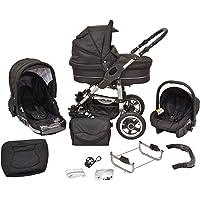 Cochecito infantil de sistema polivalente coche de niño silla de paseo sillita para niño 3 en