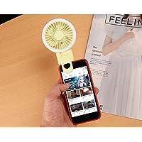 Tycom Foldable Mini Fan with Selfie Ring Light Fit for Mobile, Portable Fan Mini USB Fan, Desktop Table Cooling Fan USB…