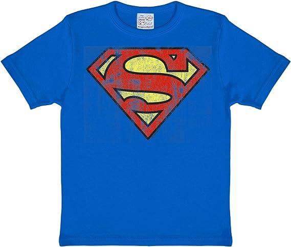 Superman Fresca del Logotipo del cómic Camiseta, de Color Azul Oscuro, Forma y Color-rápida