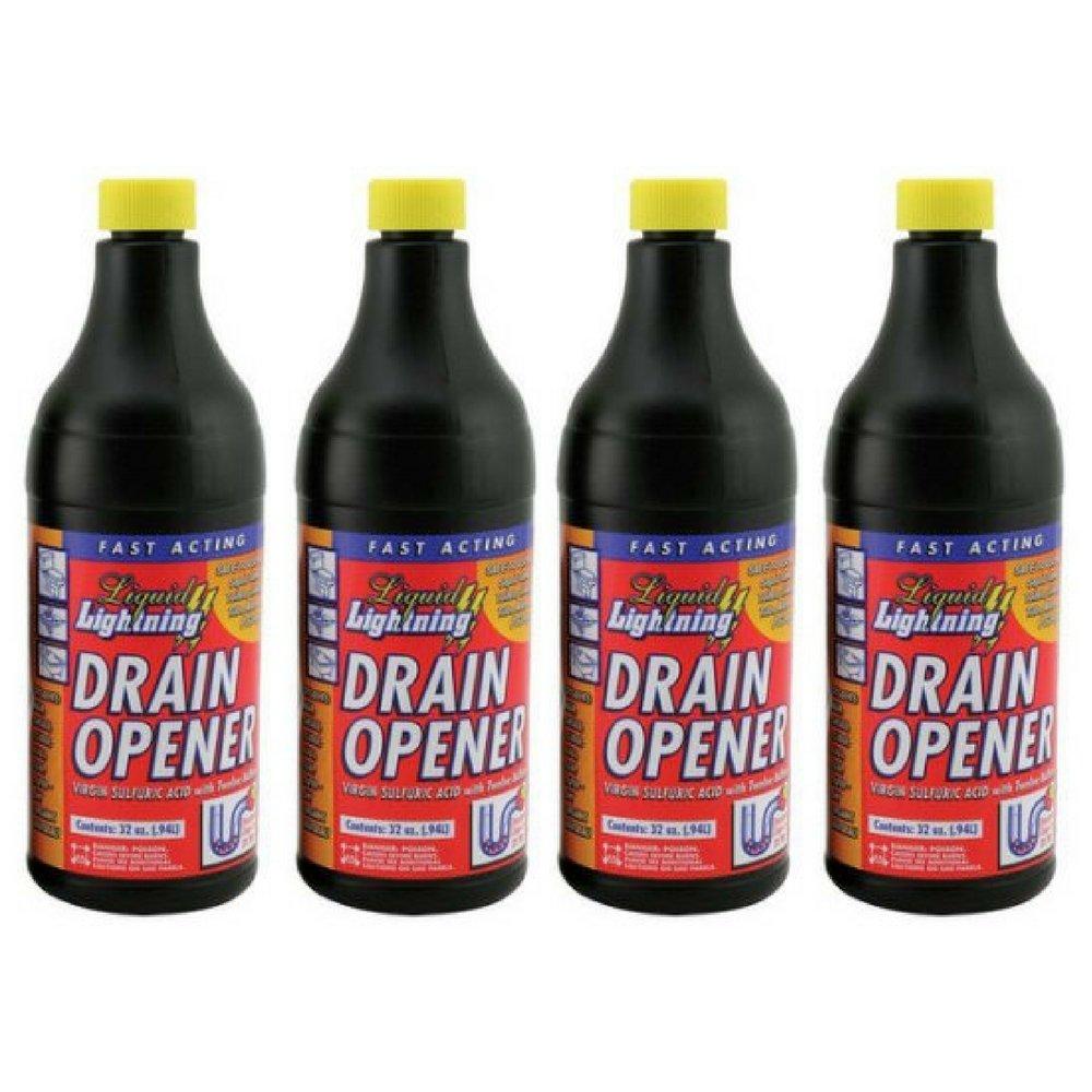 Liquid Lightning Buffered Sulfuric Acid Drain Cleaner (pack of 4)