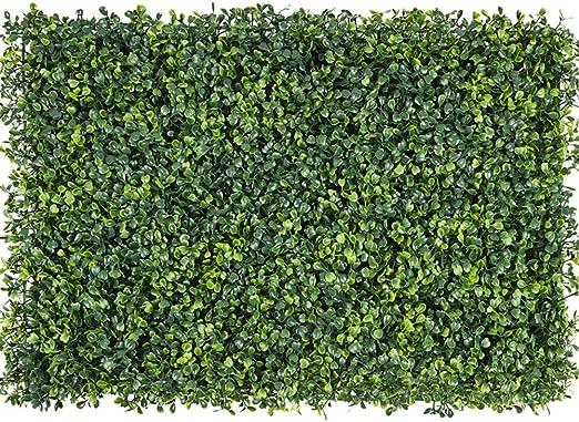 Paneles De Setos De Caja Artificial,alfombra Topiary De Arbustos De Hierba Sintética Telón De Fondo De La Pared De Greenery Al Aire Libre Interior Jardín Privacidad Pantalla Valla-h 60x40cm(24x16inch): Amazon.es: Jardín