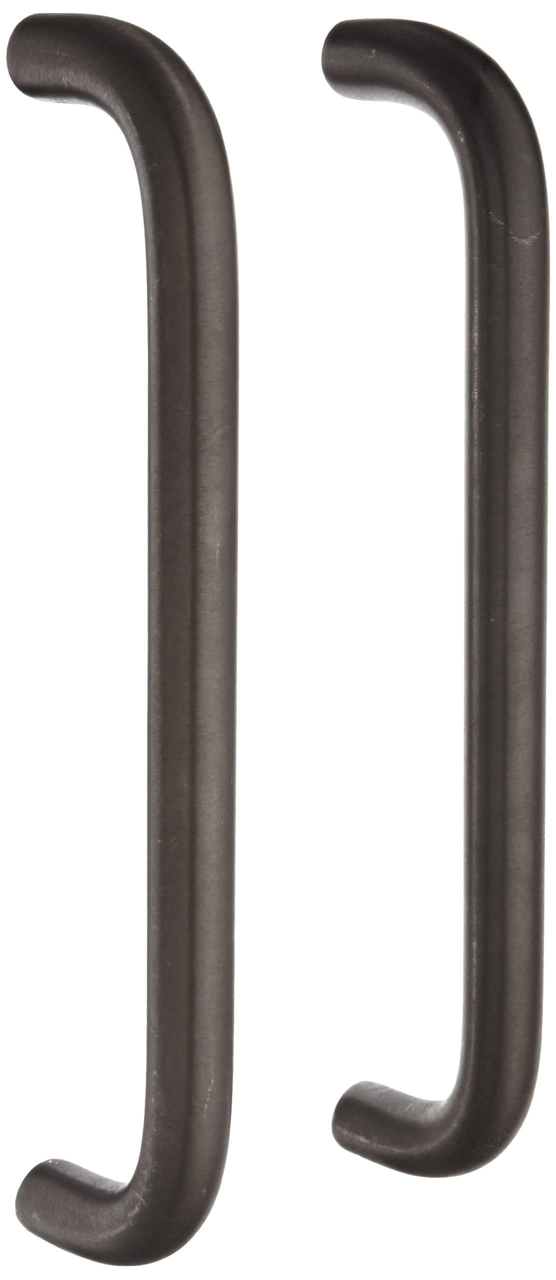 Rockwood 108BTB5.10B Bronze Straight Door Pull Set for 1-3/4'' Metal or Wood Door, 3/4'' Diameter x 10'' Center-to-Center, Type 5 Back to Back Mount, Satin Oxidized Oil Rubbed Finish