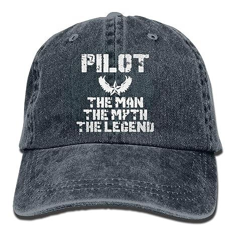 Gorra de béisbol de Tela de Mezclilla para piloto de aviación Fly ...