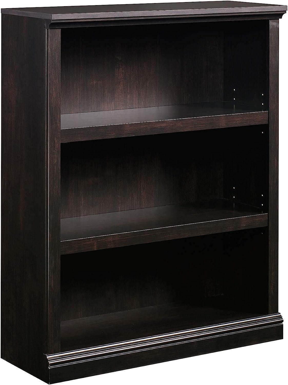 Sauder Select Collection 3-Shelf Bookcase, Estate Black finish
