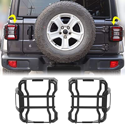 RT-TCZ Tail Light Guard Trim ABS Protect Frame Bezel Led Version Anti-dust for Jeep Wrangler 2020-2021 JL JLU Black: Automotive