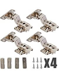yarachel concealed hinge 2 pairs4 pcs cabinet hinges hydraulic hinges cold steel rolling