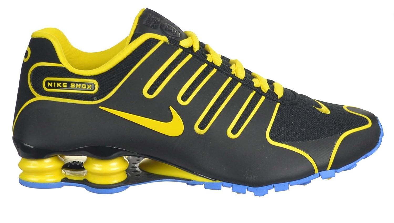 the best attitude 81b8b fcdba Amazon.com   Nike Shox NZ Men s Shoes Black Yellow Light Blue Black Yellow Light  Blue 543221-074-8.5   Fashion Sneakers