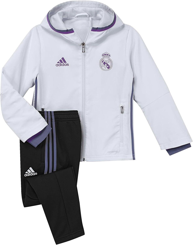 adidas Real Madrid CF Pre I Chándal, Blanco/Morado, 3-4 años ...
