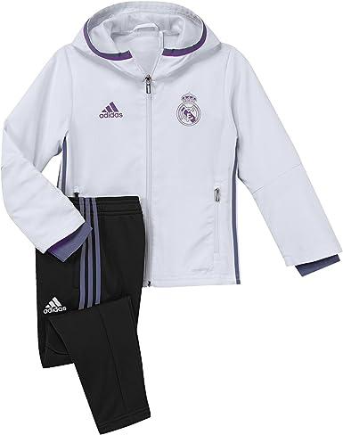 adidas Real Madrid CF Pre I Chándal, niño, Blanco/Morado, 4-5 años ...