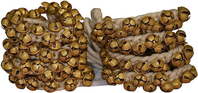 Dancing Bells Ghungroo Anklets Handmade Indian Classical Dance Accessories Ghungroo white string Total 50 Bells Ghungru 2 cm 14 No Kitty shops Best 25-25 Bells Pair Big Bells