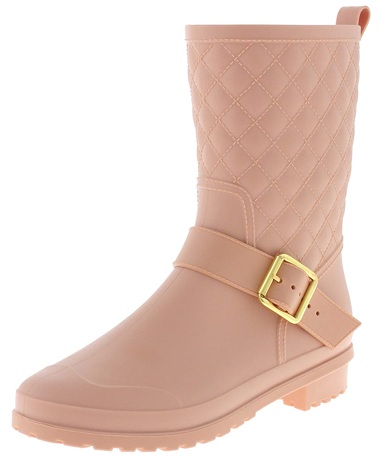 Capelli New York Ladies Two Tone Mid Calf Rubber Rain Boot RBT-4093