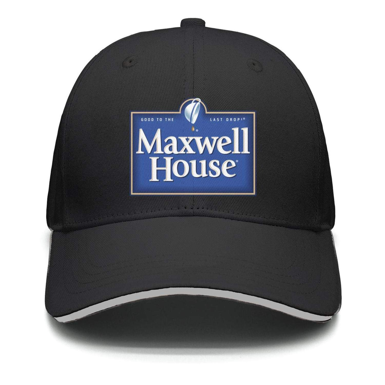 Unisex Outdoor Cap Trucker Adjustable Fits-Maxwell-House-Snapback Cotton Hat Logo