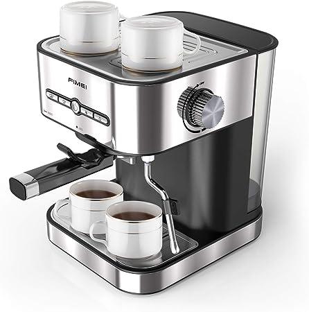 FIMEI Cafetera espresso,máquina de café espresso15 Bars,Cafetera para Cappuccino,Boquilla de Espuma de Leche Profesional, 1.5L Depósito de Agua, 2 Tazas,Todo Acero Inoxidable,Calentamiento Rápido: Amazon.es: Hogar