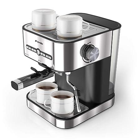 FIMEI Cafetera espresso,máquina de café espresso15 Bars,Cafetera para Cappuccino,Boquilla de Espuma de Leche Profesional, 1.5L Depósito de Agua, 2 ...