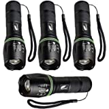 HAUSBELL Flashlight, Tactical Flashlight, LED Flashlight, Flashlights High Lumens, Zoomable, Water Resistant, 5 Modes…