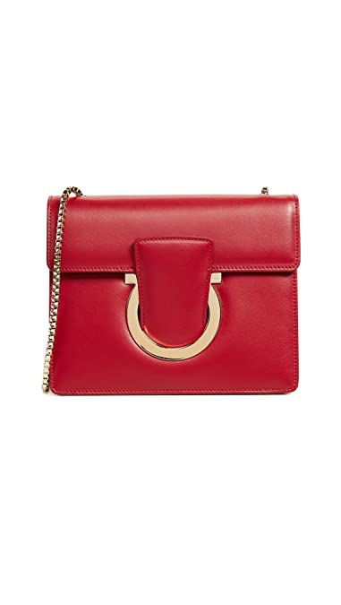 8245a64497 Amazon.com  Salvatore Ferragamo Women s Thalia Small Shoulder Bag ...