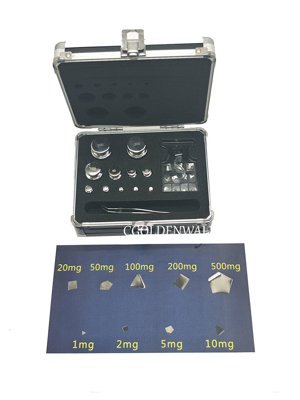 CGOLDENEALL F2 - Juego de pesas de calibración de acero inoxidable 304, 1g-1kg 13pcs, 1: Amazon.es: Industria, empresas y ciencia