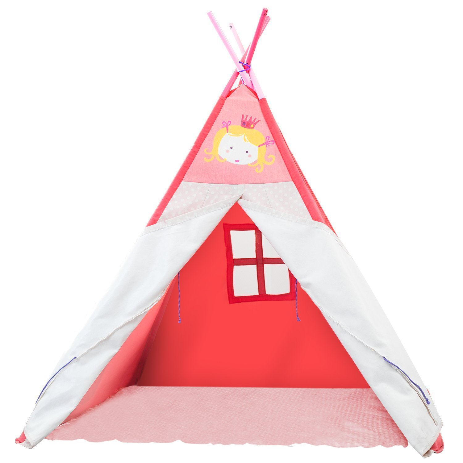big sale b1e3c f5f83 【Clearance】 20% Off! Labebe Play Teepee Kid, Baby Tent Pink for Kids 2-5  Years, Child Teepee...