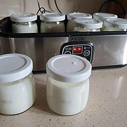 Yogurtera Aicok Yoghurt Hecho en Casa 8 Jarros de Vidrio ...