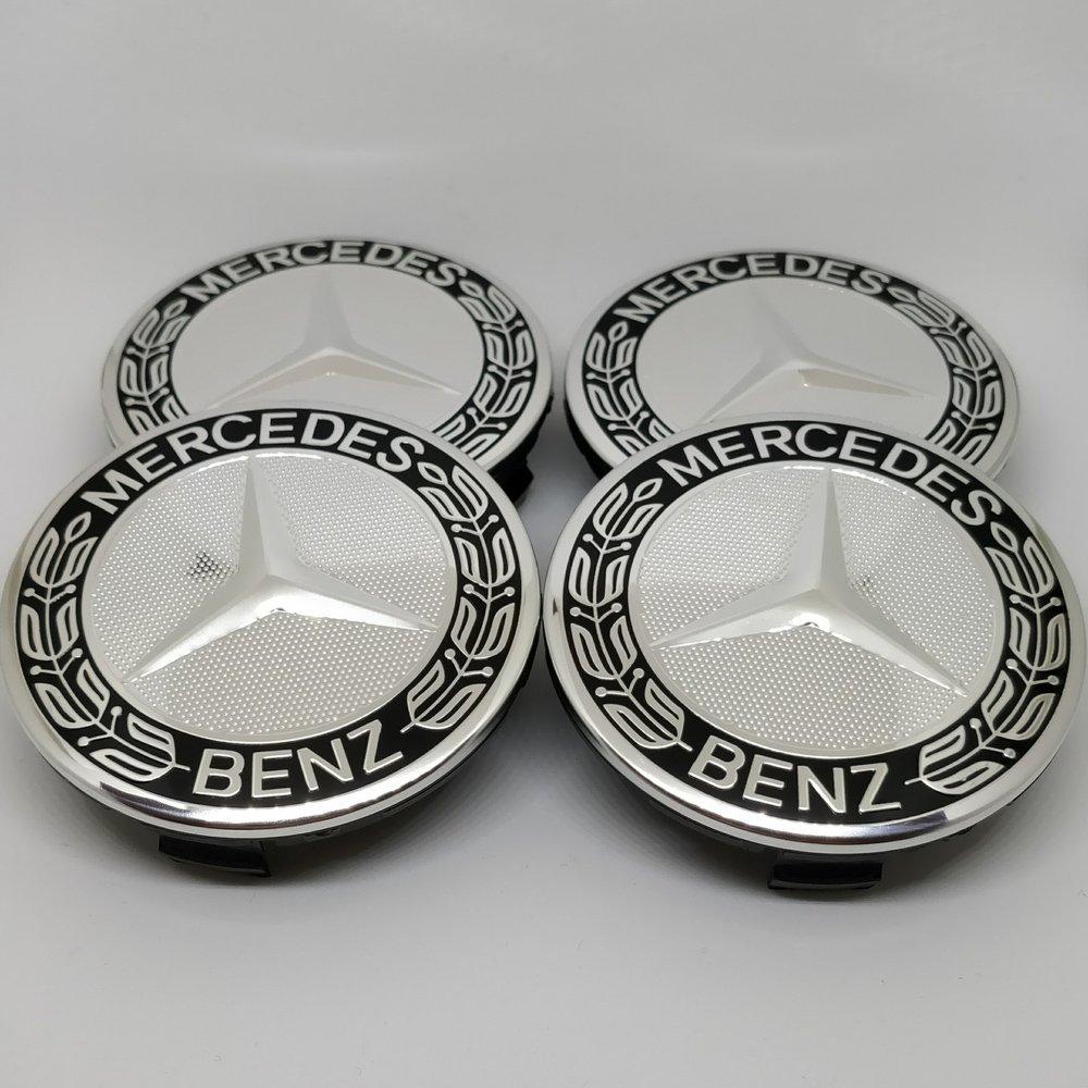 ... Mercedes-Benz a1714000125 9040 Negro - Accesorios Tapacubos radnabenabdeckung Estrella con corona Laurel Buje Tapa 75 mm AMG: Amazon.es: Coche y moto