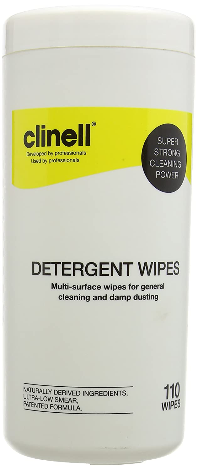 Clinell Detergent Wipes - Tub of 110 Gama Healthcare CDT110