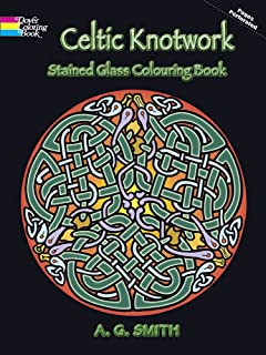 celtic knotwork stained glass colouring book dover design stained glass coloring book - Celtic Coloring Book