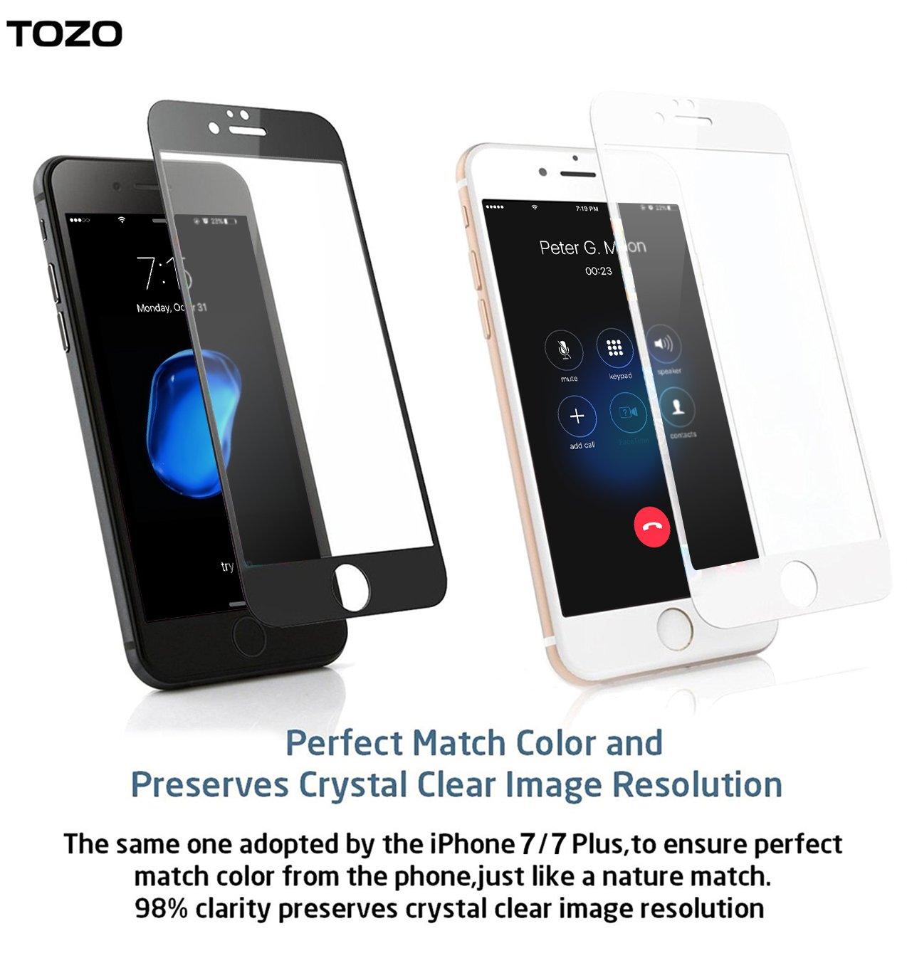 IPhone 7 Plus 3D Screen Protector Glass TOZOR Full Amazoncouk Electronics