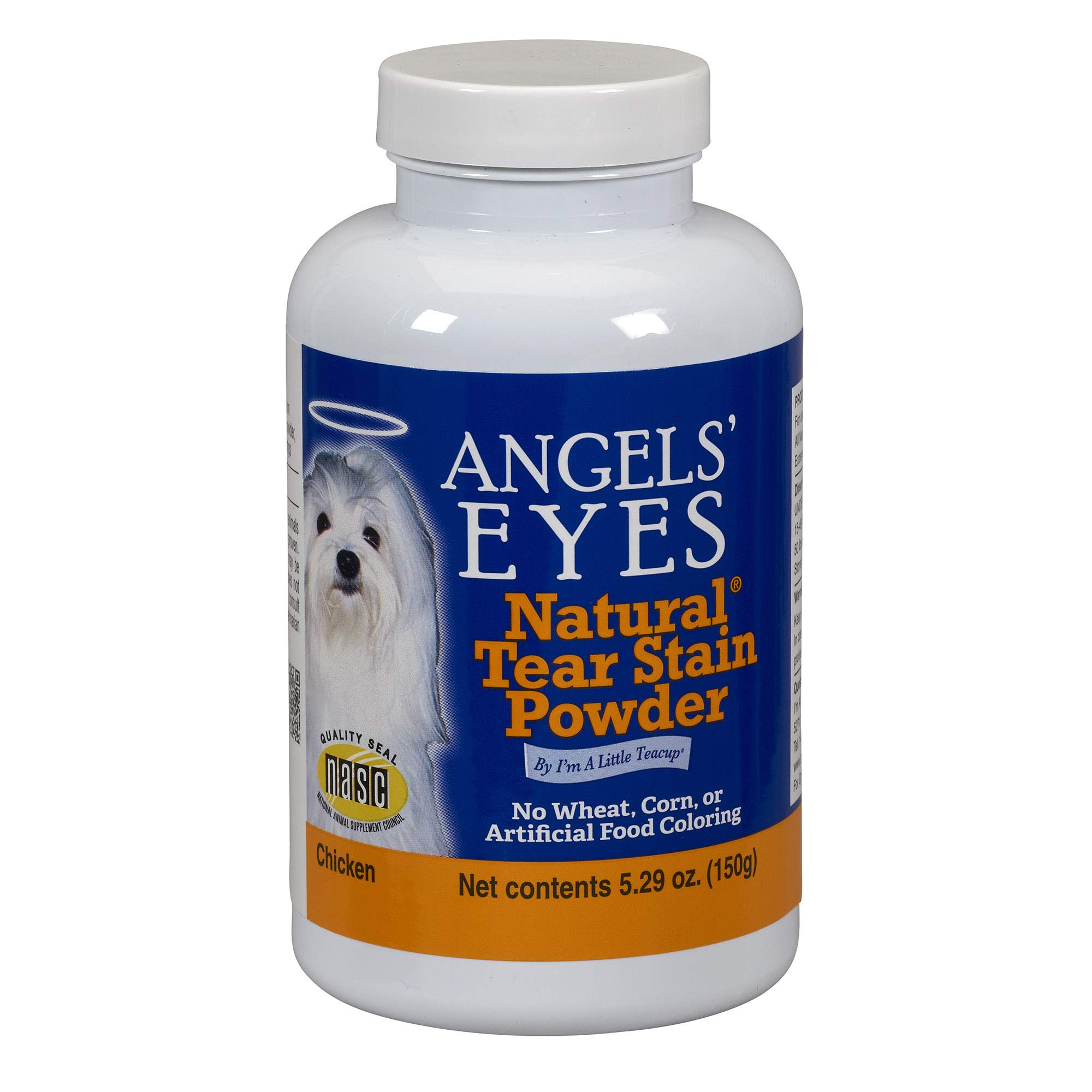 Angels' Eyes Natural Tear Stain Eliminator Remover - CHICKEN (5.29 oz) 150 gram by Angel's Eyes