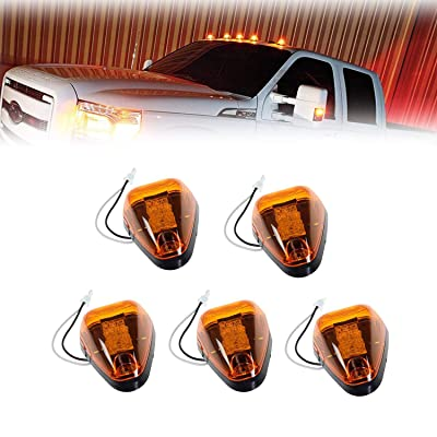 Amber Lens Yellow LED Cab Roof Top Marker Lamps Clearance Running Lights Assembly For 1999-2016 Ford F-250 F-350 F-450 F-550 Super Duty 2020 2020 E-350 E-450 Super Duty Pickup Truck: Automotive