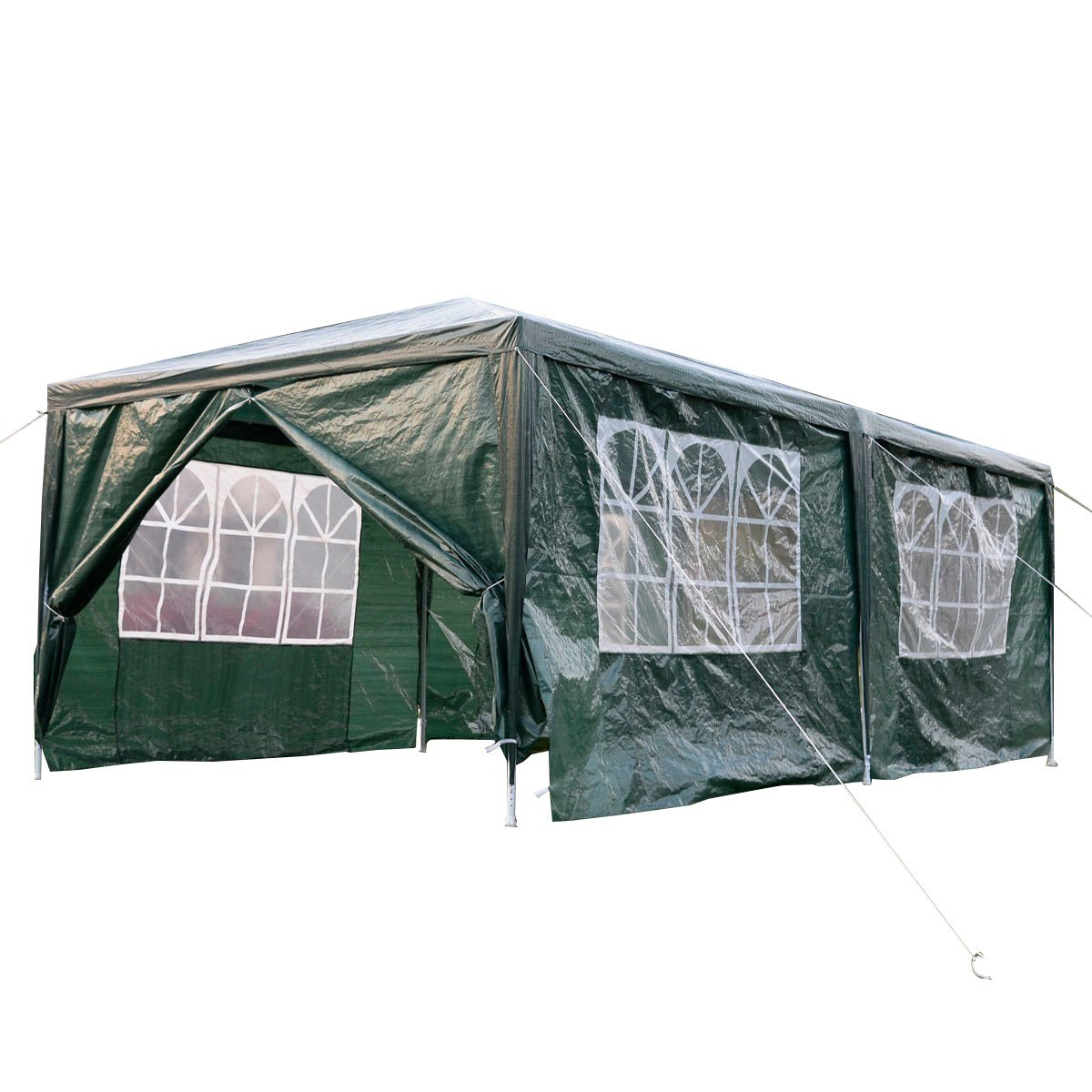 Tangkula 10'x20' Outdoor Canopy Party BBQ Tent with Windows Green