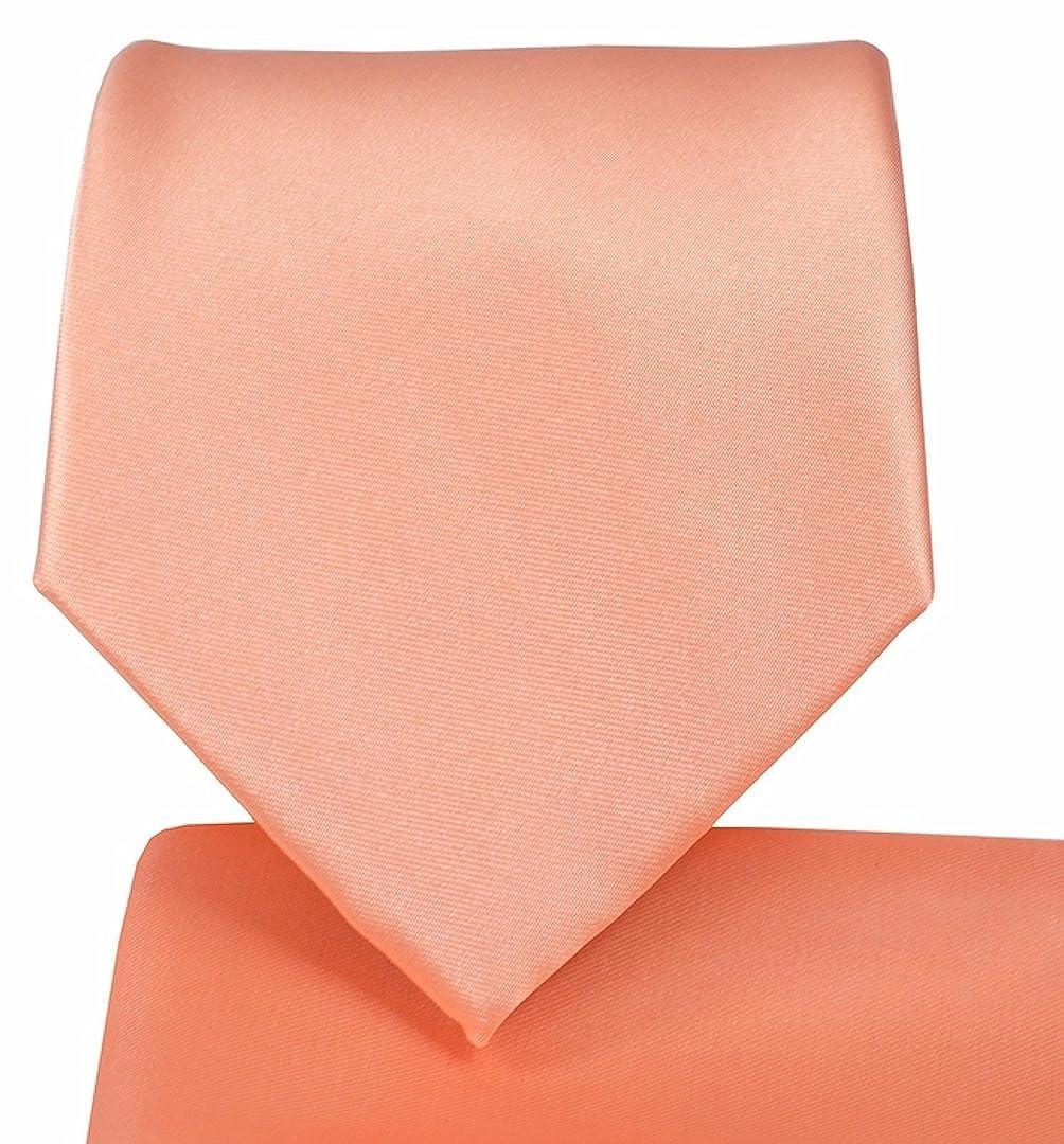 Solid Pattern NeckTie & Matching Pocket Square Handkerchief Set