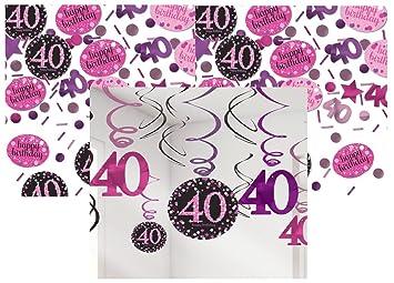 Feste Feiern Geburtstagsdeko Zum 40 Geburtstag I 13 Teile All In