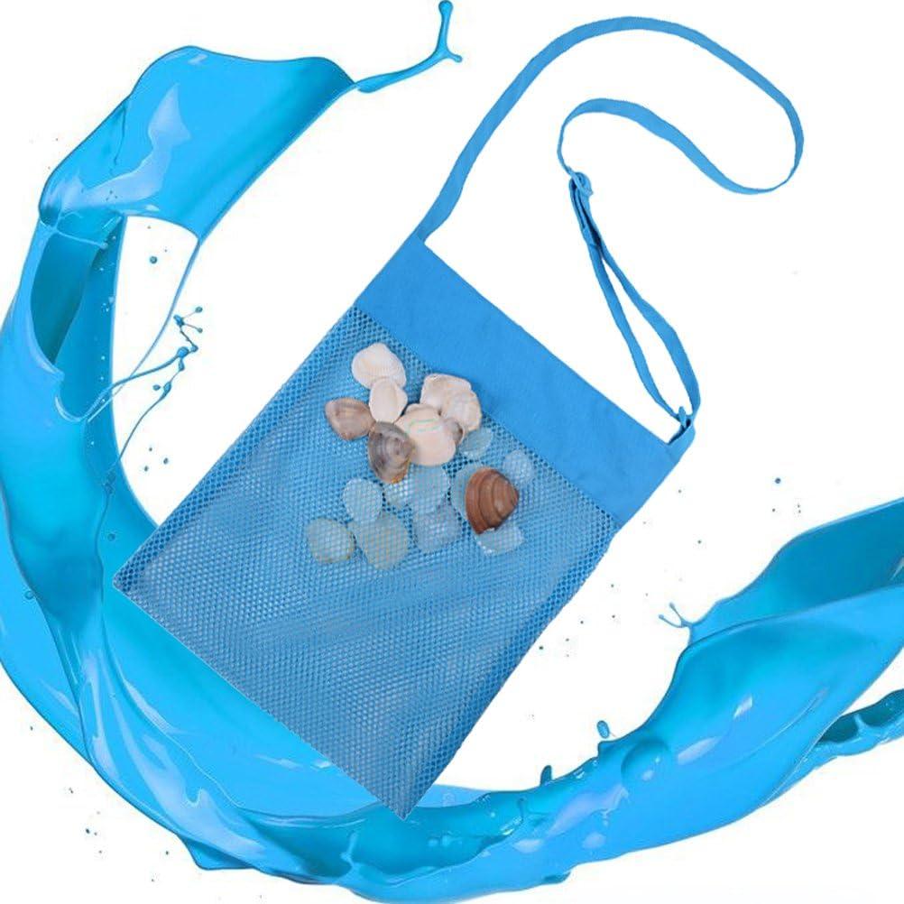 WINOMO ni/ños y jugar azul piscina Bolsa de malla para juguetes de playa barco familia