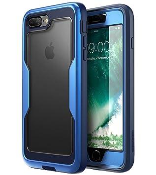 i-Blason Funda iPhone 7 / 8 Plus [Magma] 360 Grados Carcasa para Apple iPhone 8 Plus / iPhone 7 Plus Azul