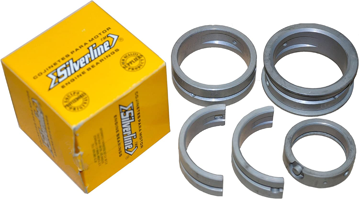 Size .020 Case // .020 Crank AA Performance Products Silver Line Main Bearings for Type 1 2 /& 3Steel Backed