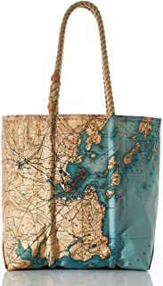 product image for Sea Bags Recycled Sail Cloth Antique Casco Bay Map Tote