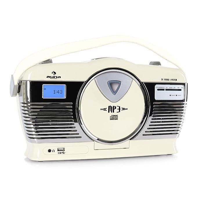8 opinioni per auna RCD-70 radio vintage (ingresso USB per la rirpoduzione di file MP3,