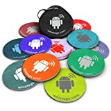 NFC tags - Topaz 512 - 10 NFC Tags with Bonus NFC-Keychain and Bonus Tag - Android Writeable Programmable - Samsung Galaxy S8 S7 S6 S5 S4 Note 5 - HTC Compatible - Sony Xperia - Pixel