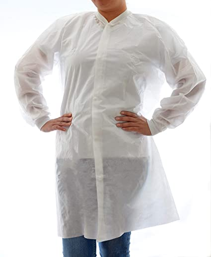 c3e60f89ae3 Image Unavailable. Image not available for. Color: Dealmed Disposable Lab  Coat ...