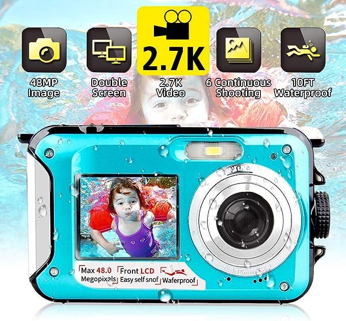 14 opinioni per Fotocamera Subacquea Digitale Fotocamera Subacquea 2.7K FHD 48MP con