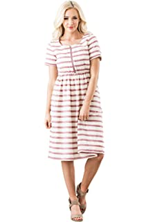 9f25b3e7c42fa Mikarose Raelyn Modest Dress or Modest Nursing Dress at Amazon ...
