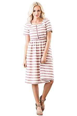 9e0a48b70ec Mikarose Ryan Modest Dress, Modest Nursing Dress at Amazon Women's Clothing  store: