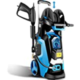 TEANDE 3800 PSI Electric Pressure Washer Smart High Pressure Power Washer 1800W Powerful Cleaner Machine, 4 Nozzles, 2.8 GPM,