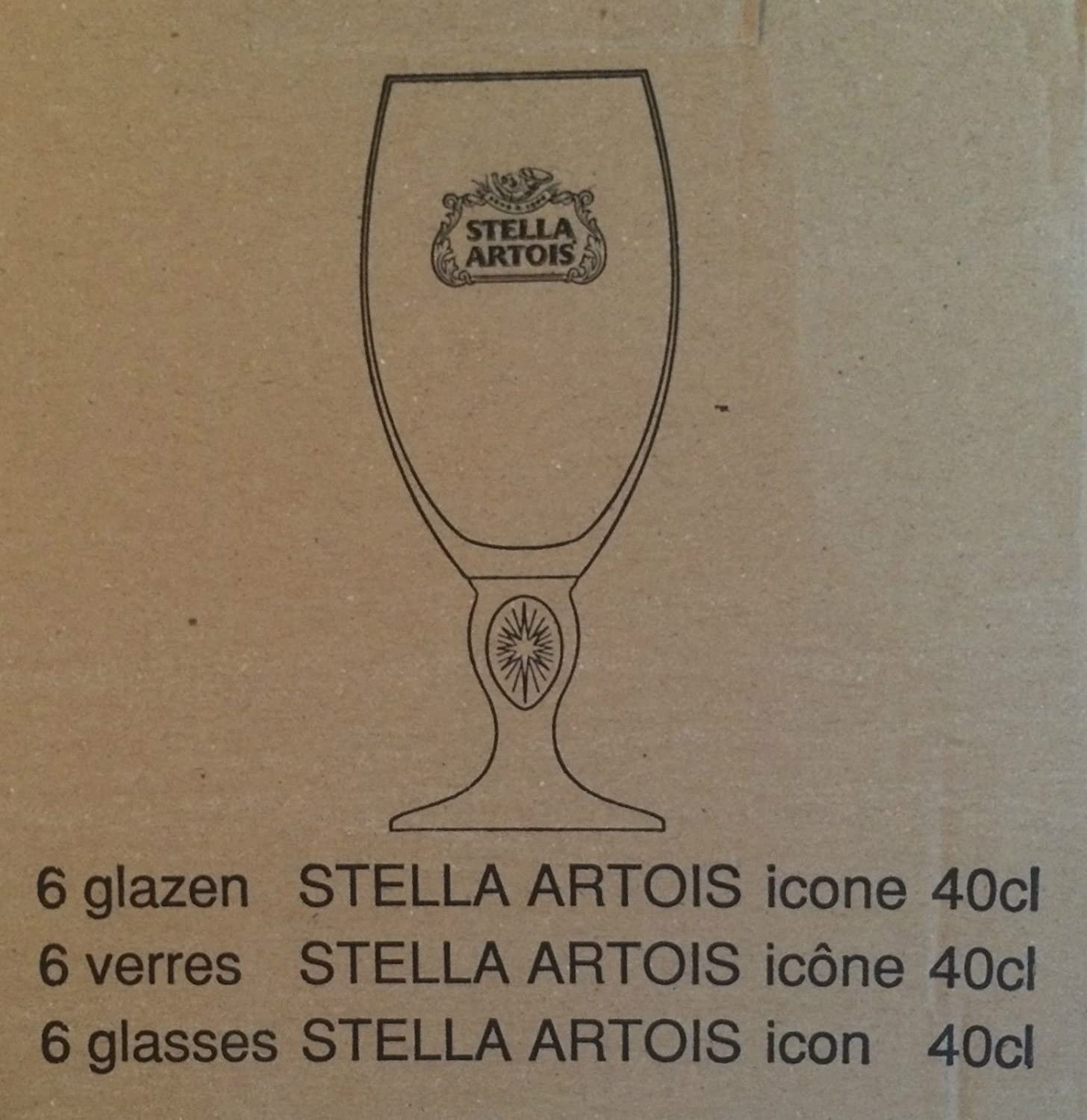 Stella Artois 40 CL Gold Rimmed Chalice Beer Glasses Great for a Home Bar!!!