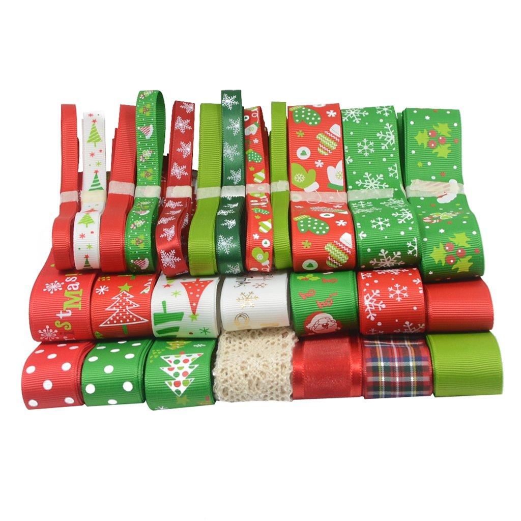 26pz Grosgrain Nastro Nozze Natale Decorazione Per Regalo Confezioni/Arco Capelli Fai Da Te Bomboniere Generic 55013906