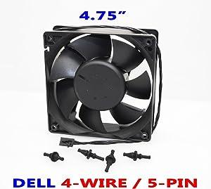 Brand New Dell 120mm Case Fan for Dimension 9100, 9150, 9200, XPS 400, XPS 410, 420, Precision 380, 390, Power Edge SC440, SC430. P/N: P8192, D8794, P8107